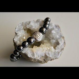 Jewelry - Hematite Lotus Mala Bracelet